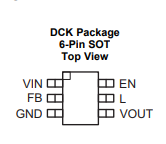 The TLV61224DCKR Pin Configuration