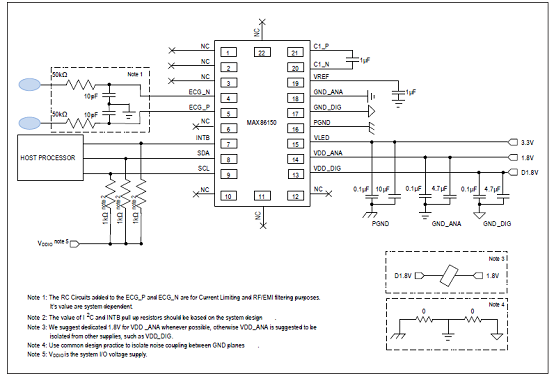 TYPICAL APPLICATION CIRCUIT DIAGRAM OF MAX86150