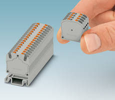 MP 1.5 Micro Terminal Blocks can be secured on NS 15 DIN rail.